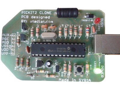 Photo of PICKIT2 Clone: Microchip programmer/debugger