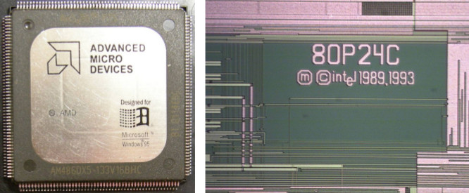 Fig. 5 - AMD processor with Intel inside! [1]