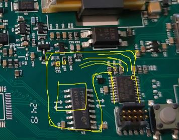 Image courtesy of EEVblog #1262. A sketch of flex-pcb outline that will be a TSSOP to LQFP replacement.