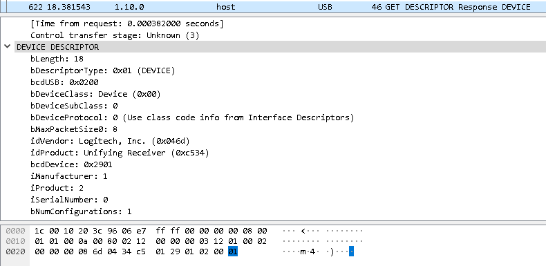 USB Sniffing Wireshark and USBPcap