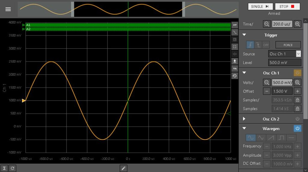WaveForms Live - Demo Mode