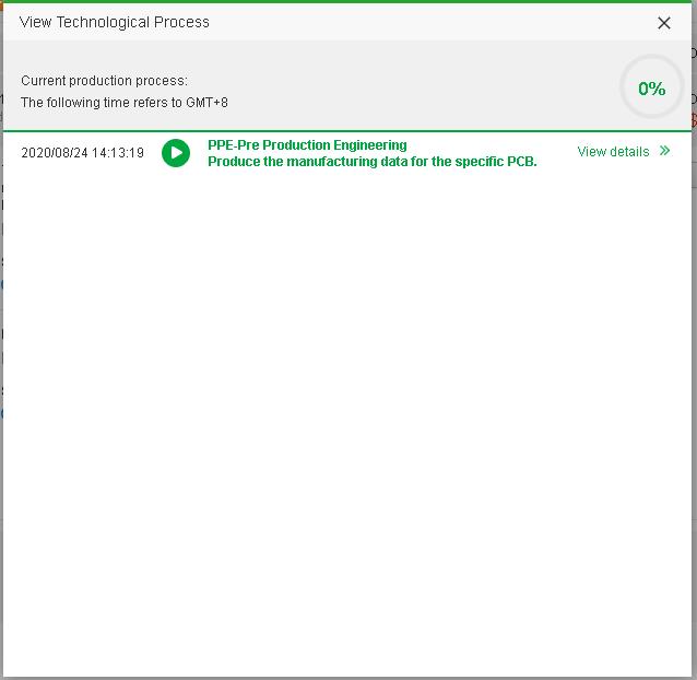 PCB Order Initial Status