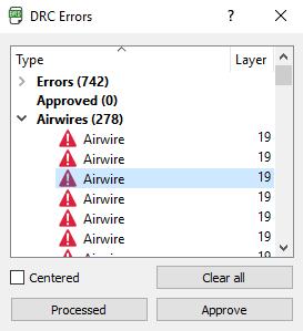 Eagle CAD airwires Design role check