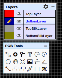 EasyEDA PCB tools