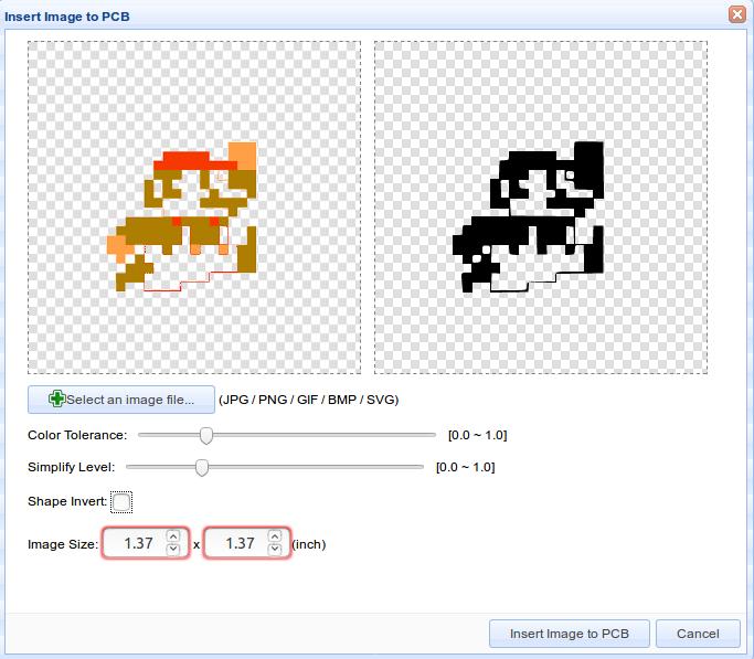 EasyEDA image import