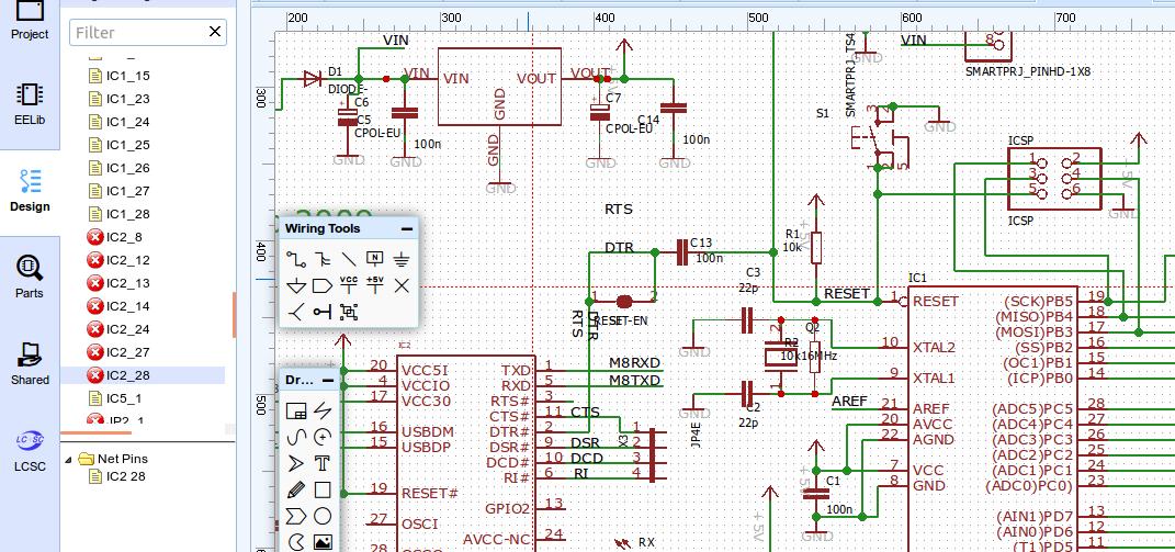 EasyEDA import Arduino