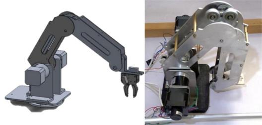 ذراع روبوتيّة تصميم ميكانيكي