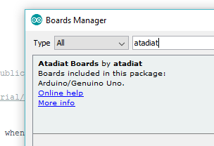 arduino board manager