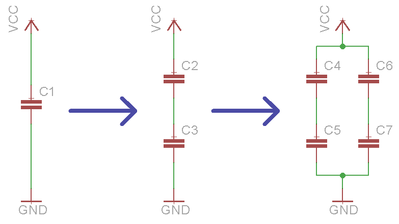 capacitor connection